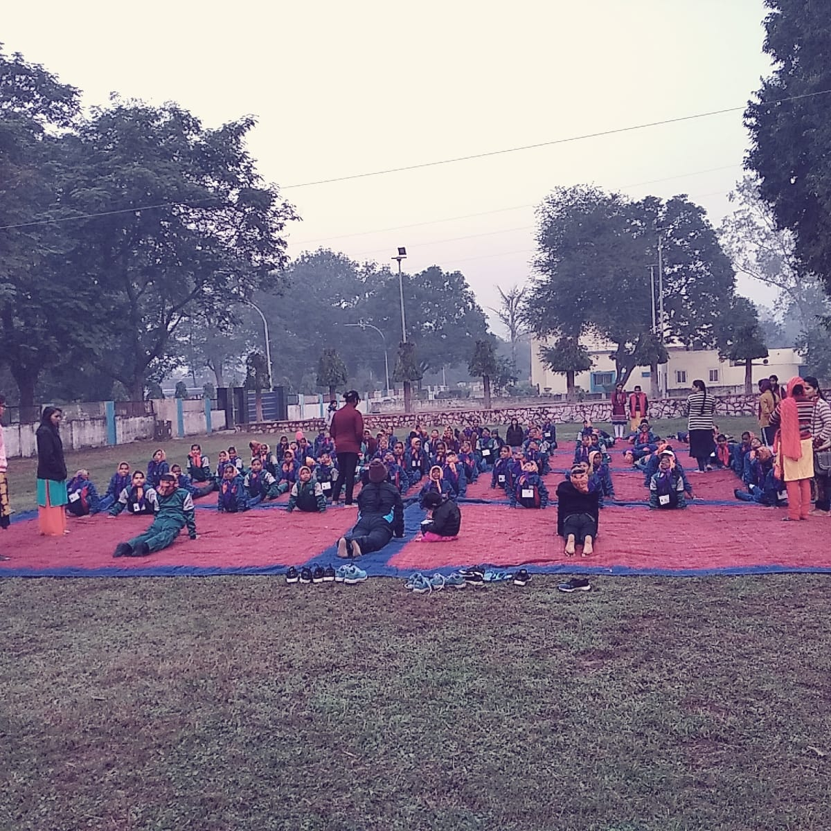 Celebration of International Yoga Day at a school in Patna