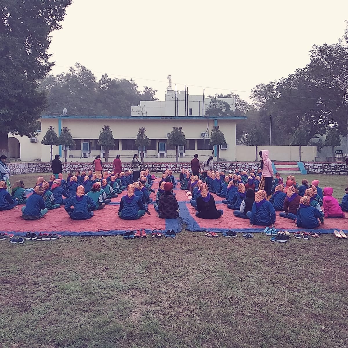 Celebration of International Yoga Day at a school in Kanpur