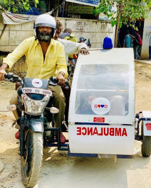 Introduction of Two-wheeler Ambulance service in remote areas of Telangana