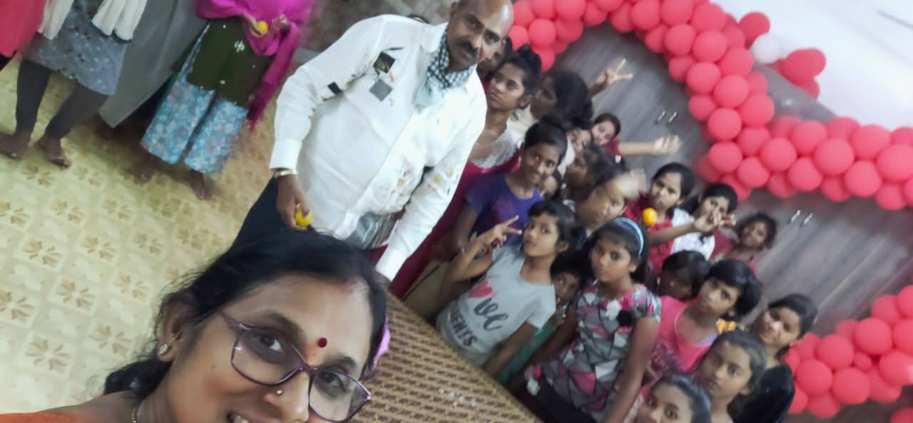 Celebration of Marriage Anniversary at an orphanage in Bhubaneswar