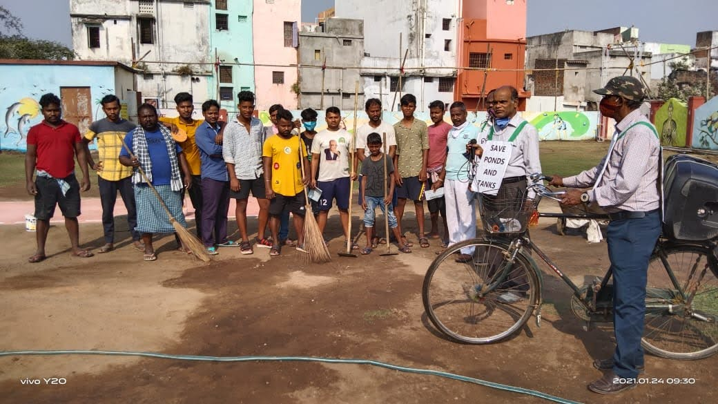 Cleanliness drive by ISRLeaders Club, Berhampur Chapter